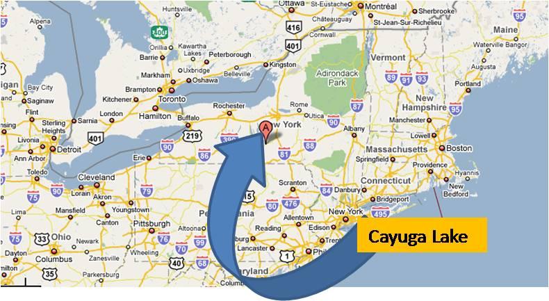 Cayuga Lake Cayugalake Upstate New York Upstatenewyork Tioga Herald - Map of upstate new york